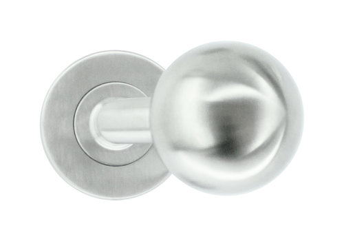 poignées de porte/boutons de porte en acier inoxydable Forme BS 50 mm sans plaques à clés