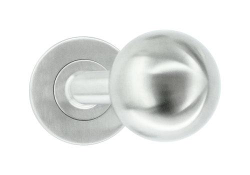 rvs deurklinken/deurknoppen BS Shape 50 mm zonder sleutelplaatjes