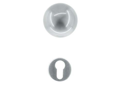 Stainless steel door knobs Boccia with PZ