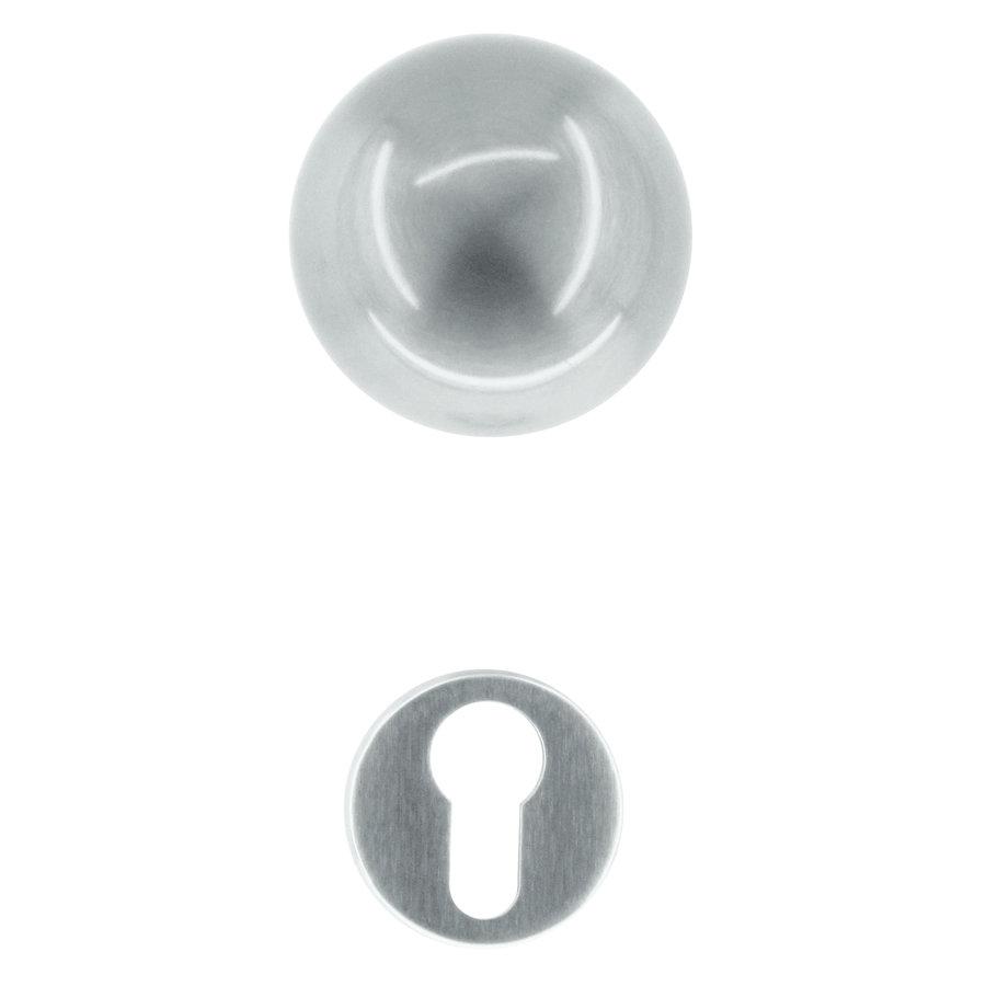 RVS deurklinken/deurknoppen Boccia met cilinderplaatjes