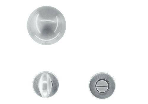 Deurklinken/deurknoppen Boccia rvs look met WC garnituur