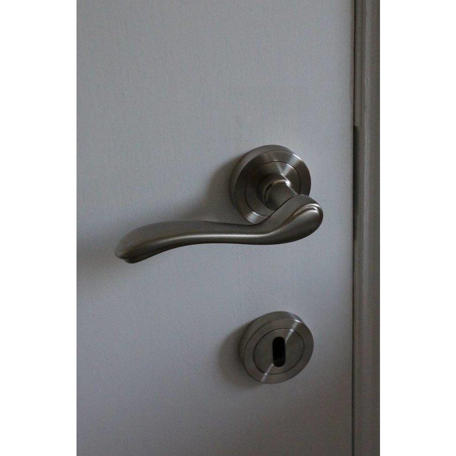 RVS deurklinken Erica  met cilinderplaatjes