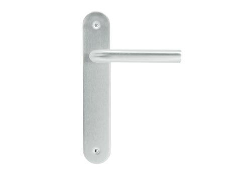RVS deurklinken 'L shape' op blinde plaat