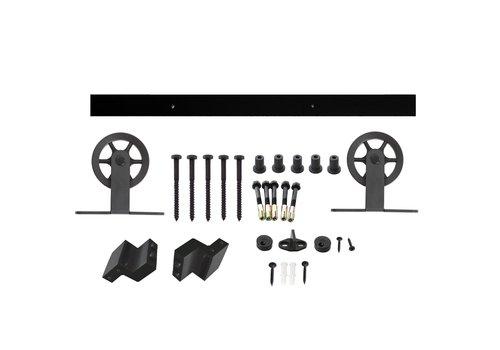 Intersteel Schuifdeursysteem Wheel Top mat zwart