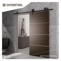 Intersteel Schuifdeursysteem Modern mat zwart