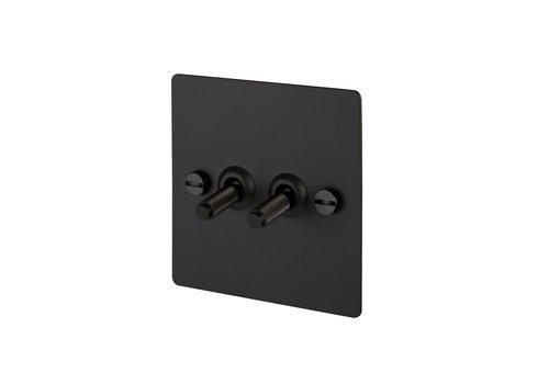Interrupteur à bascule 2G / Noir