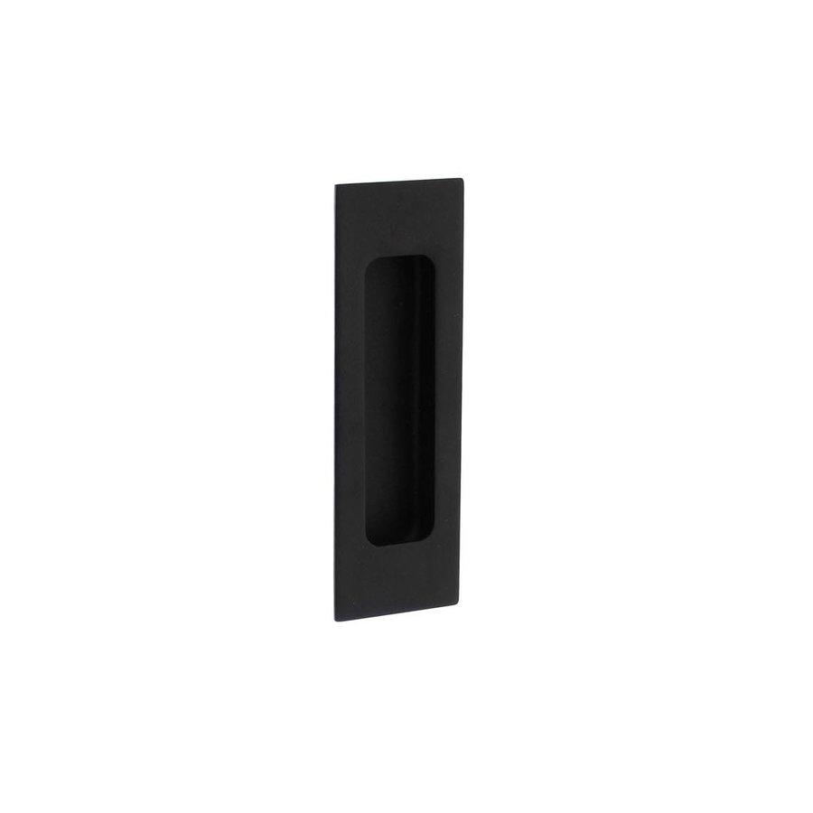 Intersteel Schuifdeurkom rechthoek 120x40 mm blind mat zwart