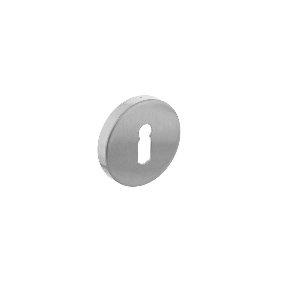 Intersteel Rozet sleutelgat rond verdekt rvs geborsteld