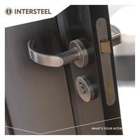 Intersteel Rozet toilet-/badkamersluiting rond verdekt rvs geborsteld 8 mm