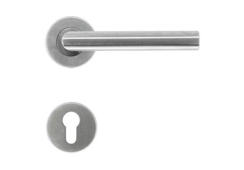 """Poignées de porte en acier inoxydable """"I shape 19mm"""" avec PZ"""