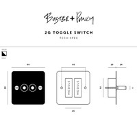 2G Toggle switch / Brass / Buster+Punch
