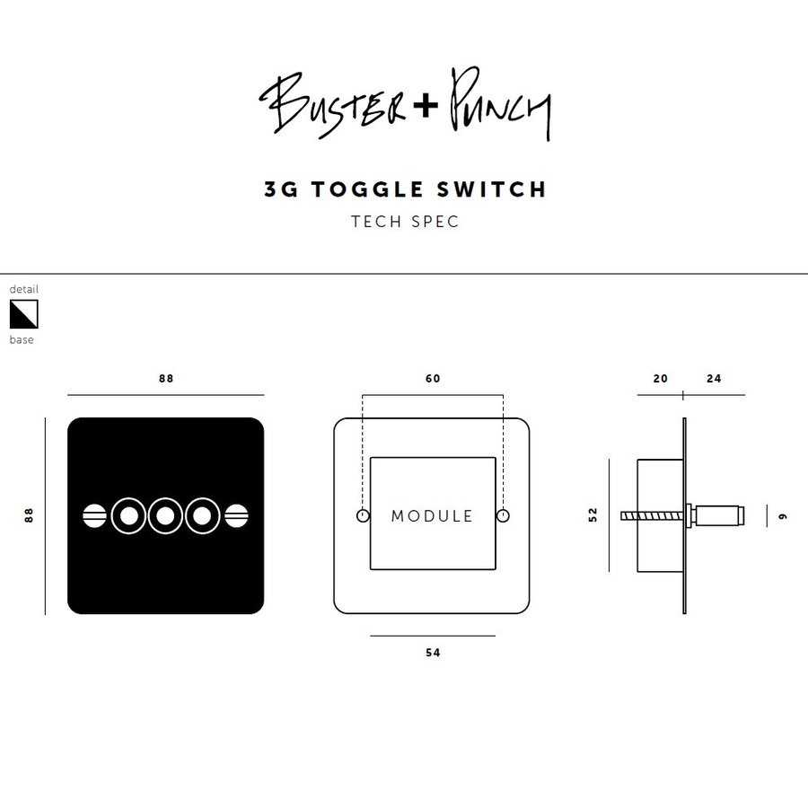 3G Toggle switch / Smoked Bronze / Buster+Punch