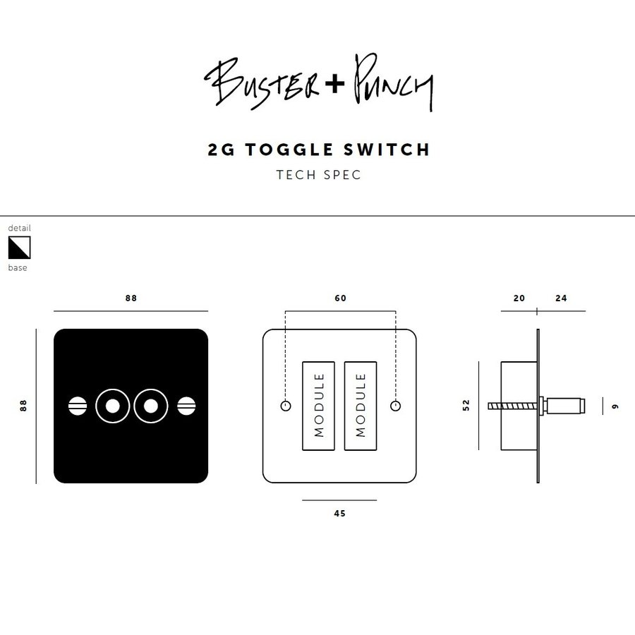 3G Toggle switch / Black / Buster+Punch