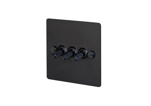 3G Kippschalter / Schwarz