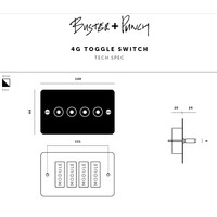 4G Toggle switch / Brass / Buster+Punch