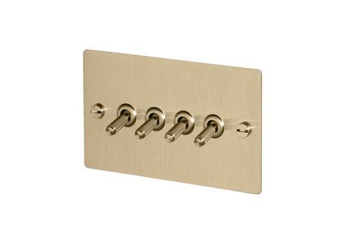 4G Toggle switch / Brass