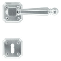RVS look deurklinken Rubens met sleutelplaatjes