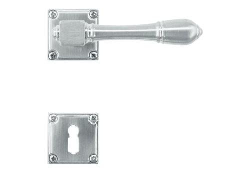 solid stainless steel look door handles Carre with BB