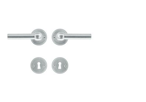 solid stainless steel look door handles Petana L+L with BB