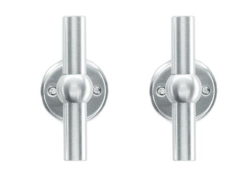 Solid stainless steel look door handles Petana T+T without BB