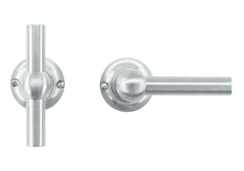 Solid stainless steel look door handles Petra T+L without BB