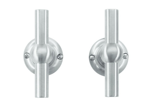 Solid stainless steel look door handles Petra T+T without BB