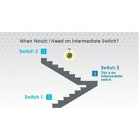 1G Intermediate Toggle switch / White