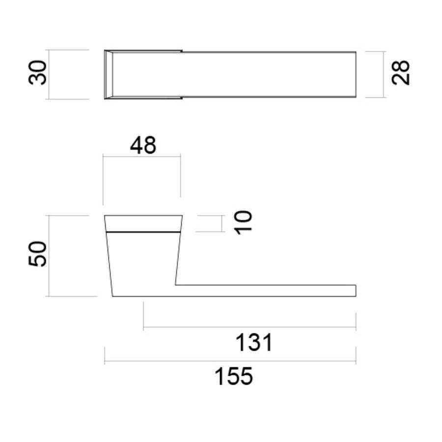 Antracietgrijze deurklinken X-treme met WC