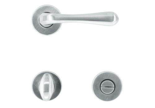 Solid door handles Greta stainless steel look with WC
