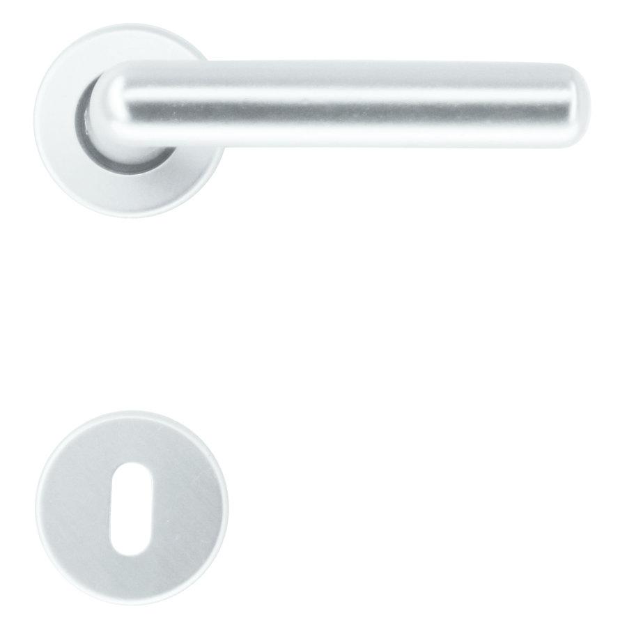 Aluminium deurklinken 'Panda Alu L' met sleutelplaatjes