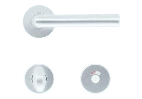 Aluminium deurklinken 'I Shape 19 mm' met WC