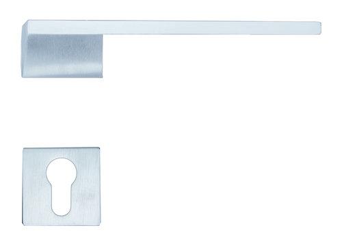 Solid Cromsat door handles Seliz with PZ