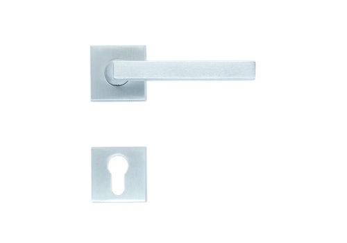Solid Cromsat door handles Luis with PZ