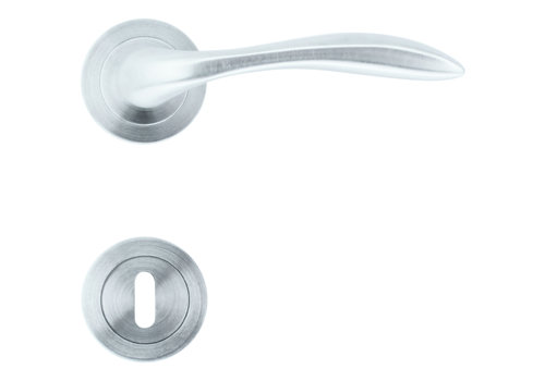 Solid Cromsat door handles Giava with BB