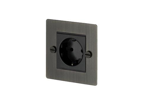 1G Euro socket / Smoked Bronze