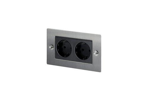 2G Euro socket / Steel