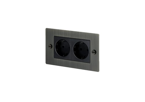 2G Euro socket / Smoked Bronze