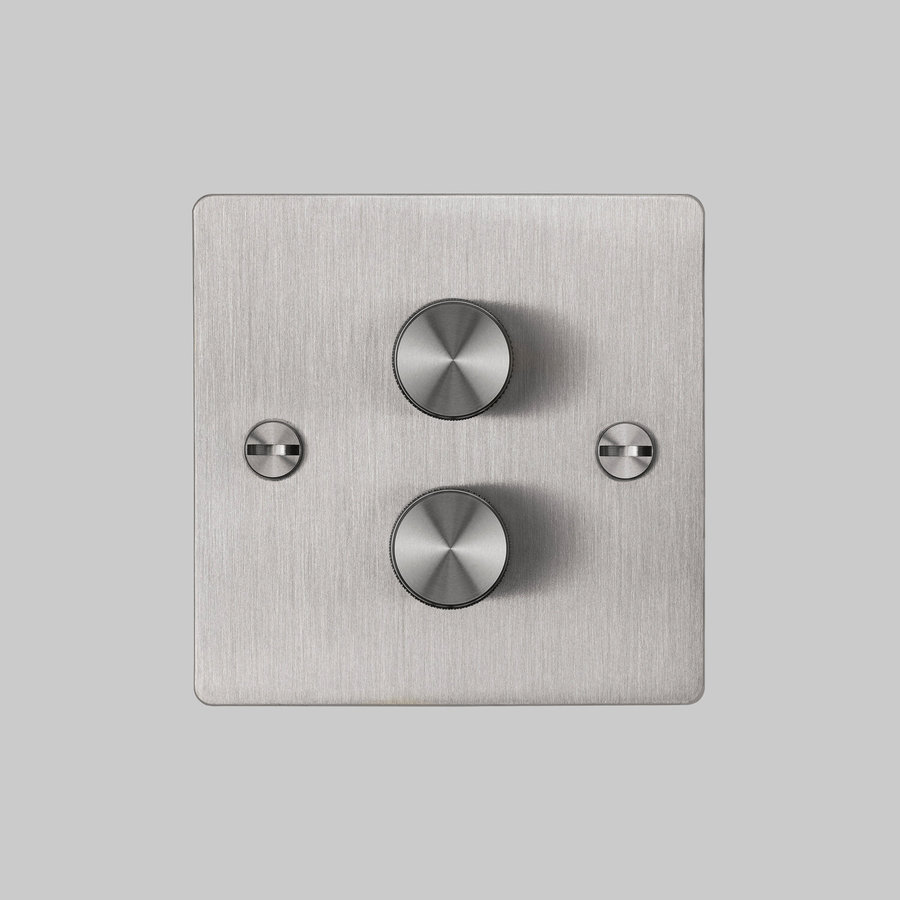2G Dimmer switch / Steel / Buster+Punch