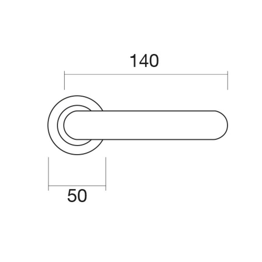 Massieve Cromsat deurklinken Ratio met cilinderplaatjes