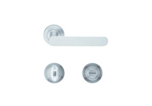 Solid Cromsat door handles Ratio with WC