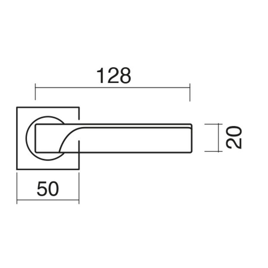 Massieve Cromsat deurklinken Flash met cilinderplaatjes