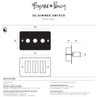 3G Dimmer switch / Brass / Buster+Punch