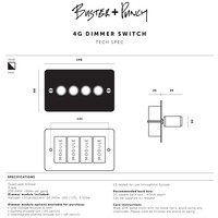 4G Dimmer switch / Brass / Buster+Punch