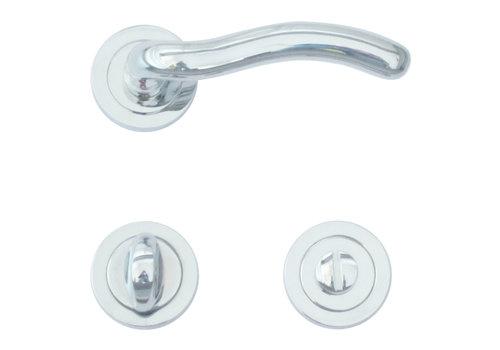Chrome deurklinken Fly met WC