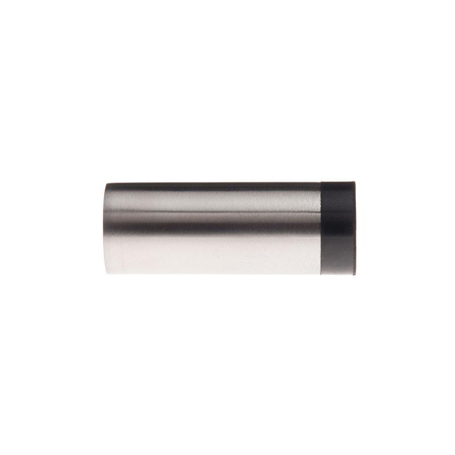 Cilindrische muurdeurstop uit RVS 30x60mm