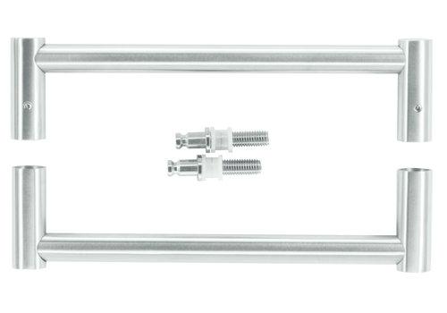 "Stainless steel door handles ""Mars"" U 19/210 pair for glass"