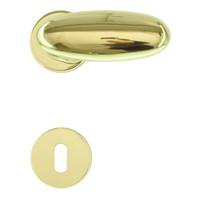 Deurklinken Olive koper met sleutelplaatjes