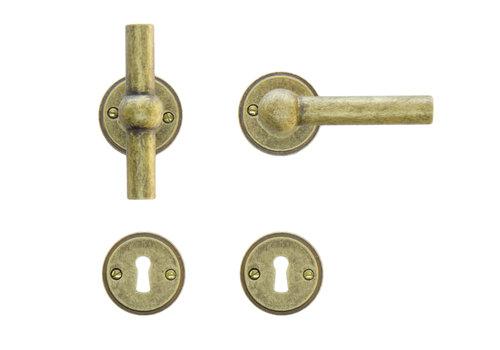 door handles Petana T+L old yellow with BB
