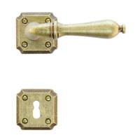 deurklink Lisa old yellow met sleutelplaatjes