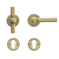 deurklinken Petana T+L old yellow met cilinderplaatjes